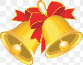 Christmas - Cartoon Christmas Bell Clip Art PNG