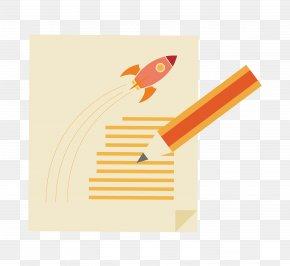 Pencil Rocket - Paper Pencil PNG