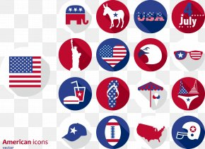 Hand-painted Pattern Element Vector United States - United States Photography Icon PNG