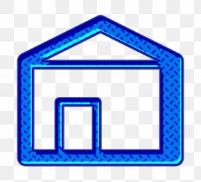 Rectangle Electric Blue - Estate Icon Home Icon House Icon PNG