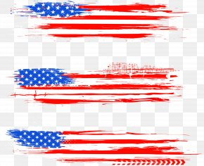 Watercolor American Flag - Flag Of The United States American Revolution Independence Day Clip Art PNG