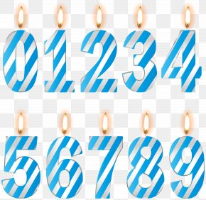 Numbers Birthday Candles Blue Clip Art Image - Birthday Clip Art PNG