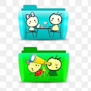 Cute Cartoon Folder Icon - Directory Download Desktop Environment Icon PNG