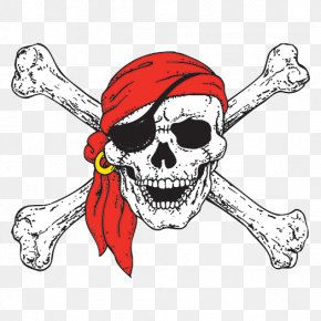 Pirate - Jolly Roger Skull And Crossbones Pirate Human Skull Symbolism PNG