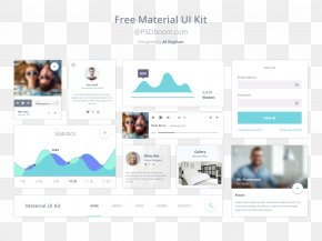 Google UI Design Elements Of The Site - Material Design User Interface Android Web Design PNG