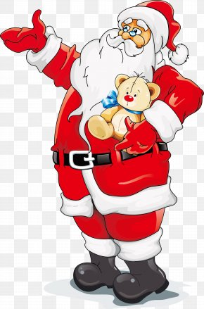 Santa Claus Vector Material Cartoon Art - Santa Claus Reindeer Christmas Clip Art PNG
