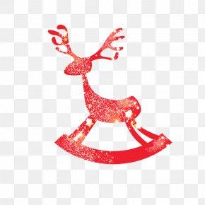 Red Deer - Reindeer Santa Claus Christmas New Year PNG