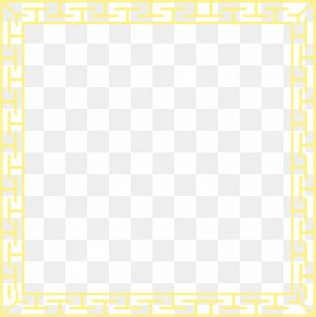 Creative Golden Frame Pattern Border - Yellow Area Pattern PNG