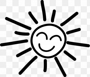 Sunshine Outline Cliparts - Black And White Clip Art PNG