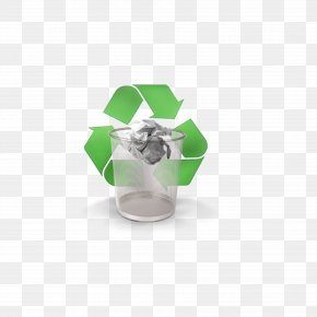 Trash Can - Recycling Paper Material Waste Container PNG