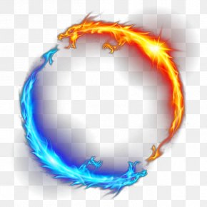Flame Dragon - Fire Ring Icon PNG