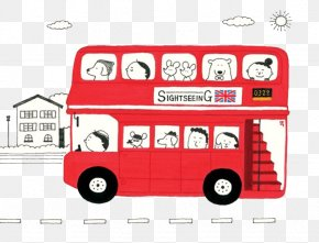 Red Bus - AEC Routemaster Double-decker Bus London Illustration PNG