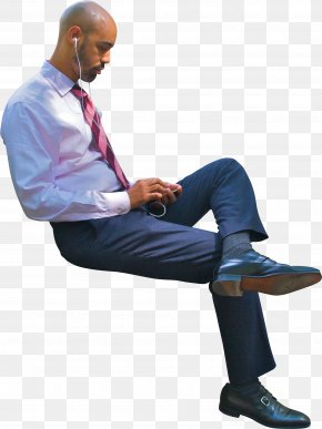 Sitting Businessman - Sitting Manspreading PNG