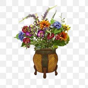 A Pot Of Plants - Artificial Flower Vase Floristry PNG