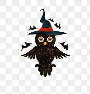 Owl - Owl Halloween Jack-o'-lantern Illustration PNG