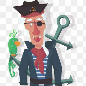 Pirate - Piracy Euclidean Vector Illustration PNG