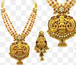 Indian Jewellery Transparent Image - South India Jewellery Earring Necklace Jewelry Design PNG
