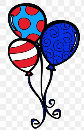 Patriotic Birthday Cliparts - The Cat In The Hat Balloon Birthday Cake Clip Art PNG