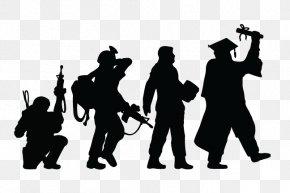 Troops - Veteran Silhouette Iwo Jima Clip Art PNG