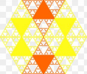Yellow Hexagon Cliparts - Fractal Clip Art PNG