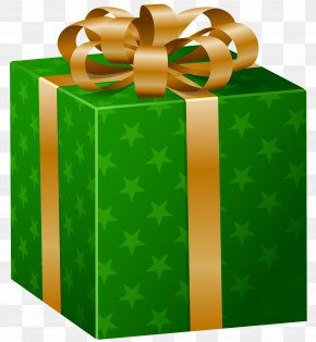 Green Present Cliparts - Gift Wrapping Decorative Box Clip Art PNG