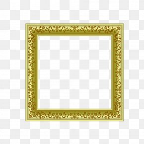 Gold Frame - Picture Frame Yellow Flooring Pattern PNG