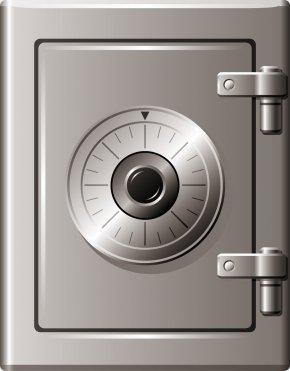 Gray Safe - Grey Safe Deposit Box PNG