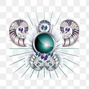 Diamond Pattern Chrome Horn - Diamond PNG