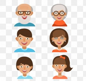 Family Members Avatar - Family Cartoon Royalty-free Clip Art PNG