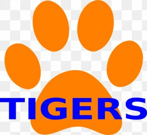 How To Draw A Tiger Paw Print - Tiger Clemson University Paw Clip Art PNG