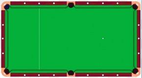 Cartoon Material Billiards Table Top View - Billiard Table Billiards Pool Snooker PNG