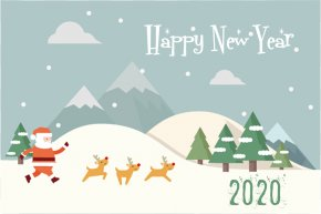 Event Snow - Happy New Year 2020 Christmas PNG
