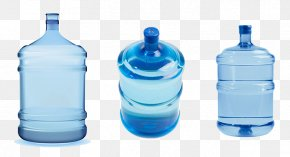 Three Barrels Of Bottled Water - Bottled Water Water Bottles Water Cooler Drinking Water PNG