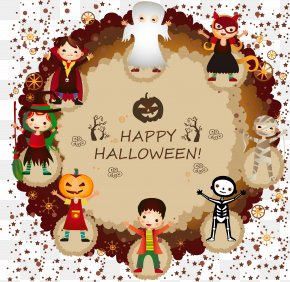 Halloween Design Elements - Halloween Costume Trick-or-treating Clip Art PNG