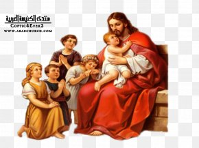 Jesus Church - Teaching Of Jesus About Little Children Prayer Depiction Of Jesus PNG