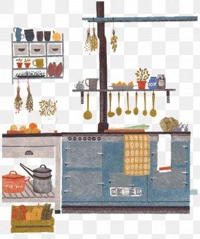 Hand-painted Kitchen Corner - Visual Arts Drawing Illustrator Illustration PNG