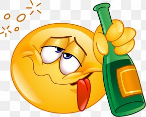 Drinking Expression - Emoticon Smiley Alcohol Intoxication Clip Art PNG