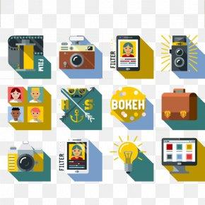 12 Fashion Photography Icon Vector Material - Euclidean Vector Camera Icon PNG