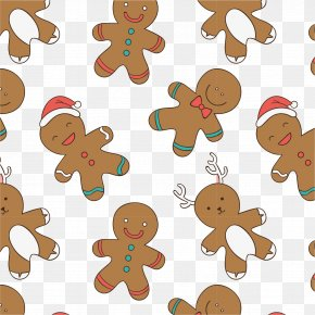 Cartoon Gingerbread Man - Gingerbread Man Gingerbread House Biscuit PNG