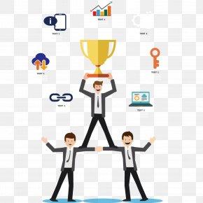 Businessman Team Honors - Infographic Teamwork Adobe Illustrator Illustration PNG