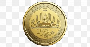Canada - 150th Anniversary Of Canada Canadian Gold Maple Leaf Gold Coin PNG
