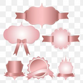 Vector Pink Ribbon - Pink Icon PNG