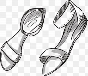 Sketch Sandals Vector - Fashion Accessory Clothing Fashion Illustration PNG