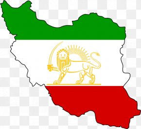 Map - Flag Of Iran Lion And Sun Vector Graphics Illustration PNG