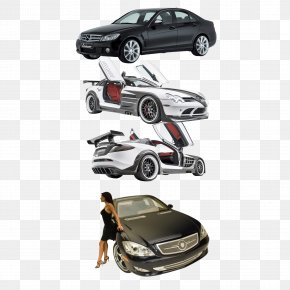 A Row Of Car Black Sports Car - Sports Car Mercedes-Benz A-Class Mercedes-Benz B-Class PNG