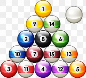8 Ball Pool Transparent Image - Pool Eight-ball Billiard Ball Rack Billiard Table PNG