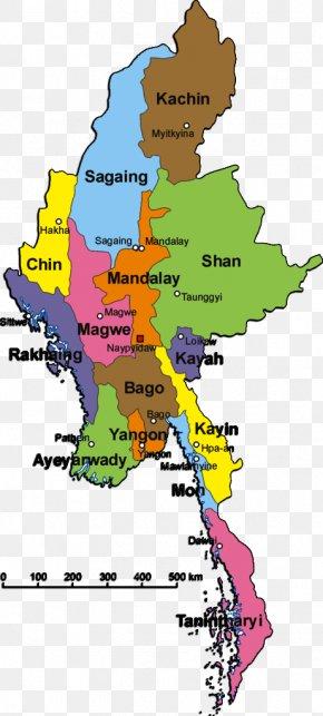 Myanmar Map - Mrauk U Kayin State Administrative Divisions Of Myanmar Map Shan State PNG