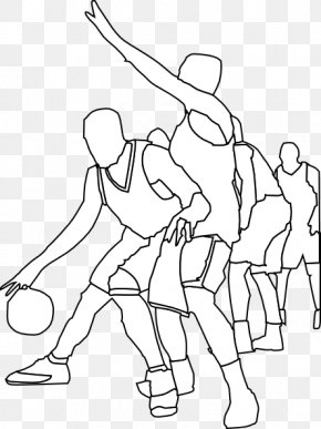 Sport Game Cliparts - Outline Of Basketball Clip Art PNG