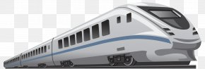 The Blue Stripe Is High In Iron - Train Rail Transport High-speed Rail Clip Art PNG