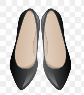 Arrow Black Shoes - Slipper Ballet Flat Shoe PNG